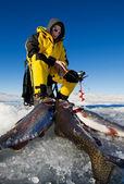 Fishing success — Stock Photo