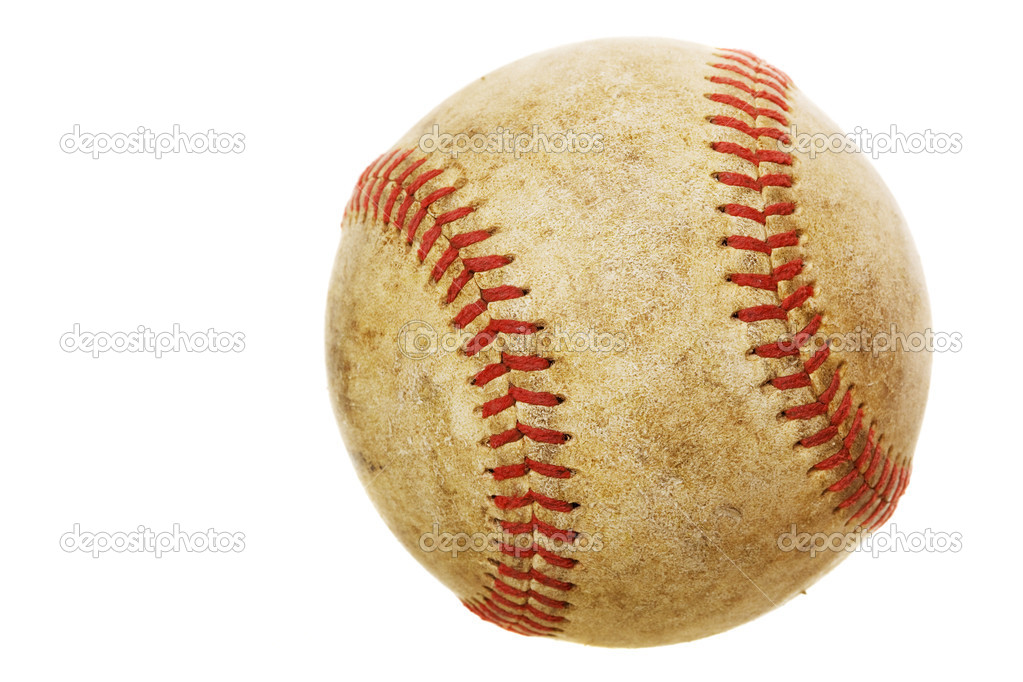 High rez worn baseball on a white background — Stock Photo #2966045
