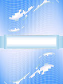 Blue vector background — Stock Vector