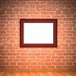 Stock Photo: Frame on brick wall