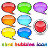 Chat bubbles icon — Stock Vector