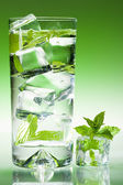 Tall clear minted drink — Stok fotoğraf