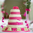 Foto Stock: Beautiful wedding cake
