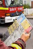 Emergency Services fire men — Stock Photo