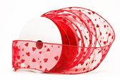 Bobina di nastro di cuore rosso — Foto Stock
