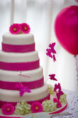 Beautiful wedding cake — Stok fotoğraf