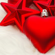 Christmas hearts and starts — Stock Photo