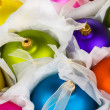 Stock Photo: Boxed Christmas decorations baubles