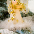 Christmas Angel on a snow encrusted tree — Stock Photo #2972306