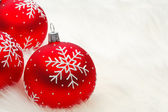 Red snow flake bauble — Stok fotoğraf
