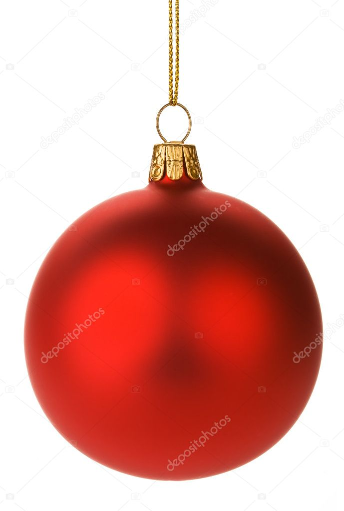 Hanging Red Christmas Baubles — Stock Photo #2972181