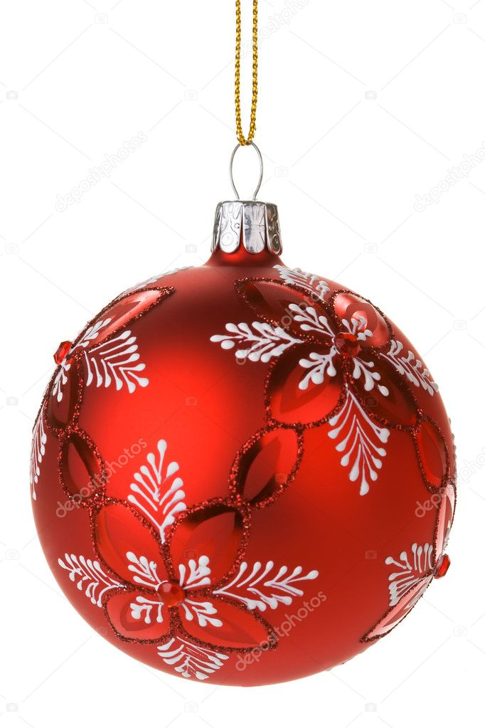 Hanging Red Christmas Baubles — Stock Photo #2972207