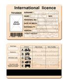Licencja kierowcy — Zdjęcie stockowe