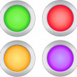 Web buttons - Stock Vector