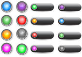 Glossy web buttons — Stock Vector
