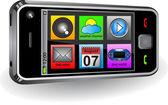Smartphone with menu — Stock Vector