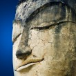 Stock Photo: Stone head of buddha