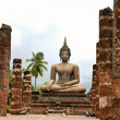 Stock Photo: Buddhin ruins of Wat Mahathat