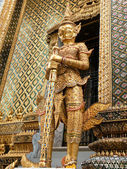 Golden demon statue Grand Palace — Stock Photo