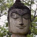 Stone head of buddha — Stock Photo