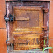 Cast iron door — Foto Stock
