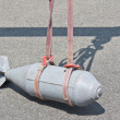 Dummy bomb lifting — Stock Photo
