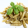 Penne with pesto — Stockfoto