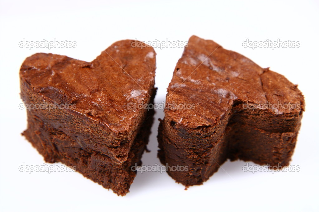 Heart shaped brownies — Stock Photo © teine26 #2988105