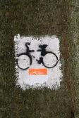 Bicycle path symbol — Stock Photo