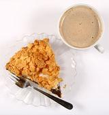 Pie and coffee — Stock Photo