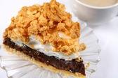 Slice of pie and — Stockfoto