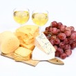 Cheese, wine and crackers — Stock Photo #3035826