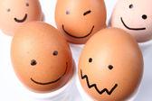 Smiling eggs — Stock Photo