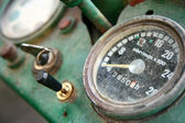 Old tractor dashboard — Stock Photo