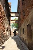 European architecture: an alley — Stock Photo