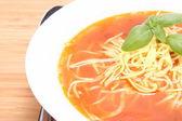 Rajská polévka — Stock fotografie