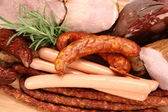 Selection of cold meat — Stock Photo