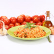 Risotto with tomatoes — Stock Photo