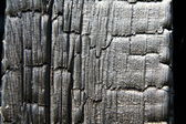 Burnt Wood background — Stock fotografie