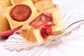 Ciasto ze śliwkami — Zdjęcie stockowe