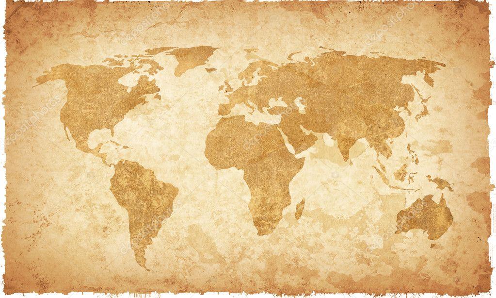 world map vintage artwork stock photo ilolab 2977082. Black Bedroom Furniture Sets. Home Design Ideas