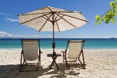 Entspannen am strand — Stockfoto