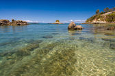 Island, beach and lagoon — Foto Stock