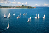 Regatta in indian ocean — Stock Photo