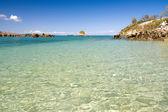 Island, beach and lagoon — Stock Photo