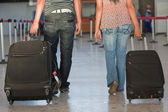 Passengers at the airport — Stock Photo