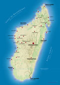 Map of Madagascar — Stock Photo