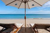 Lehátka na pláži — Stock fotografie