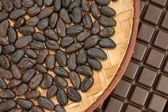 Cocoa and chocolate — Stock Photo