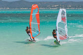 Windsurf in the lagoon — Stock Photo